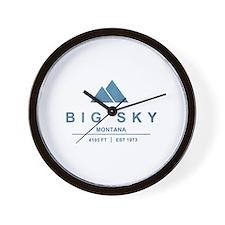 Big Sky Ski Resort Montana Wall Clock