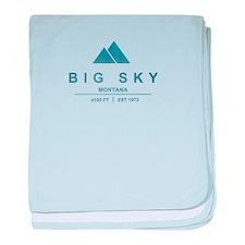 Big Sky Ski Resort Montana baby blanket