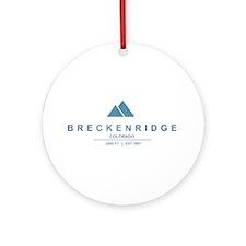 Breckenridge Ski Resort Colorado Ornament (Round)