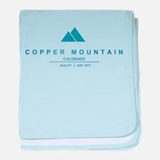 Copper Mountain Ski Resort Colorado baby blanket