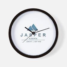 Jasper Ski Resort Alberta Wall Clock