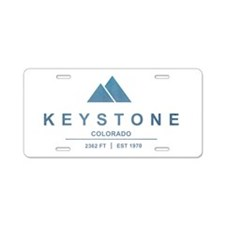 Keystone Ski Resort Colorado Aluminum License Plat