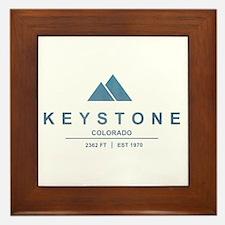 Keystone Ski Resort Colorado Framed Tile
