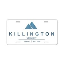 Killington Ski Resort Vermont Aluminum License Pla