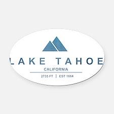 Lake Tahoe Ski Resort California Oval Car Magnet