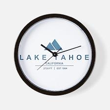 Lake Tahoe Ski Resort California Wall Clock