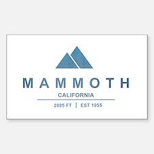 Mammoth Ski Resort California Decal