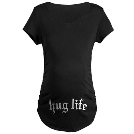 hug life Maternity Dark T-Shirt