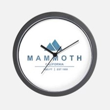 Mammoth Ski Resort California Wall Clock