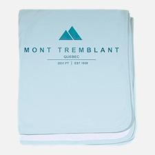Mont Tremblant Ski Resort Quebec baby blanket