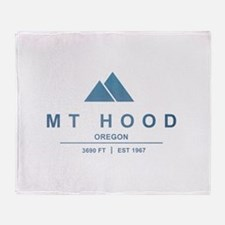 Mt Hood Ski Resort Oregon Throw Blanket