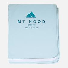 Mt Hood Ski Resort Oregon baby blanket