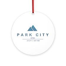 Park City Ski Resort Utah Ornament (Round)