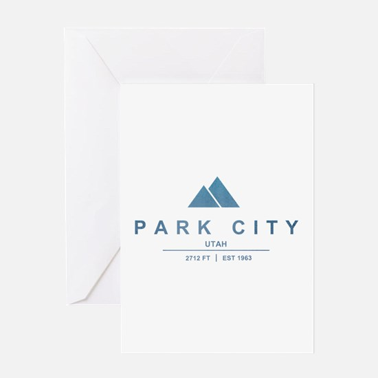 Park City Ski Resort Utah Greeting Cards