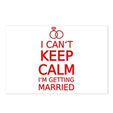 I cant keep calm, Im getting married Postcards (Pa