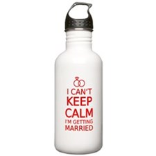 I cant keep calm, Im getting married Water Bottle