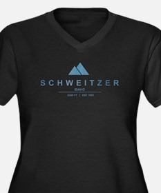 Schweitzer Ski Resort Idaho Plus Size T-Shirt
