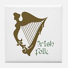 Irish Folk Tile Coaster