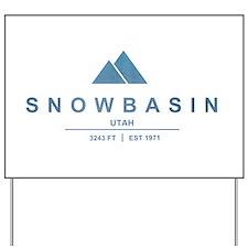 Snowbasin Ski Resort Utah Yard Sign