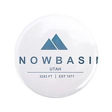 """Snowbasin Ski Resort Utah 3.5"""" Button (100 pack)"""