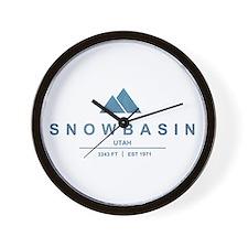Snowbasin Ski Resort Utah Wall Clock