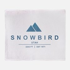 Snowbird Ski Resort Utah Throw Blanket