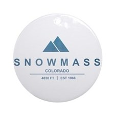 Snowmass Ski Resort Colorado Ornament (Round)