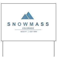Snowmass Ski Resort Colorado Yard Sign