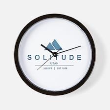 Solitude Ski Resort Utah Wall Clock