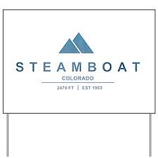 Steamboat Ski Resort Colorado Yard Sign