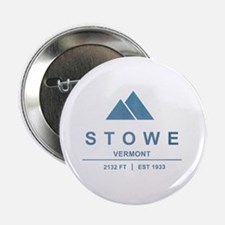 "Stowe Ski Resort Vermont 2.25"" Button"