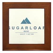 Sugarloaf Ski Resort Maine Framed Tile