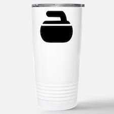 Curling stone symbol Travel Mug