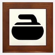 Curling stone symbol Framed Tile