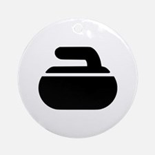 Curling stone symbol Ornament (Round)