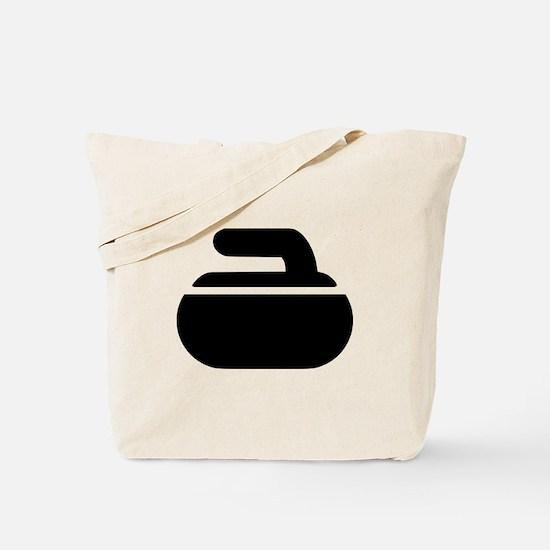 Curling stone symbol Tote Bag