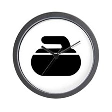Curling stone symbol Wall Clock