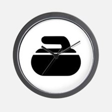 Curling stone symbol Wall Clock