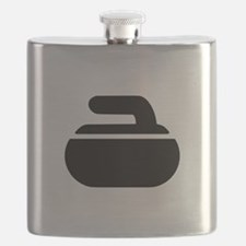 Curling stone symbol Flask
