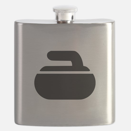 Curling stone symbol Flask