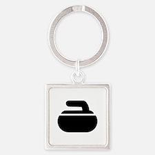 Curling stone symbol Square Keychain