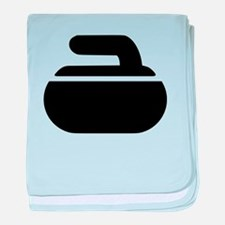 Curling stone symbol baby blanket