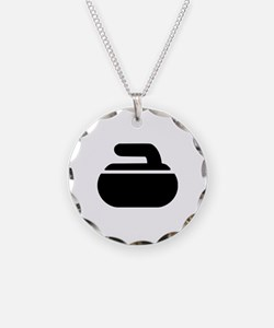 Curling stone symbol Necklace
