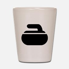 Curling stone symbol Shot Glass