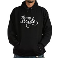 Team Bride white Hoodie