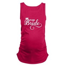 Team Bride white Maternity Tank Top