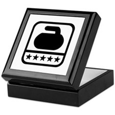 Curling stone stars Keepsake Box