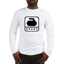 Curling stone stars Long Sleeve T-Shirt