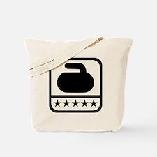 Curling stone stars Tote Bag