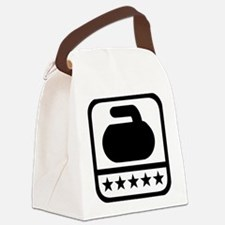Curling stone stars Canvas Lunch Bag